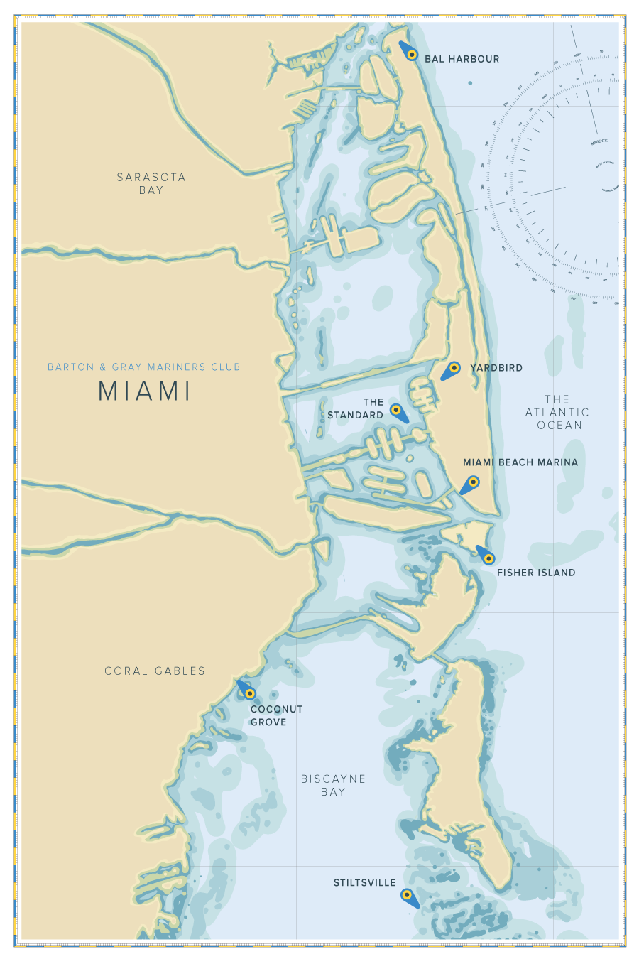 Coconut Grove Florida Map.Miami Florida