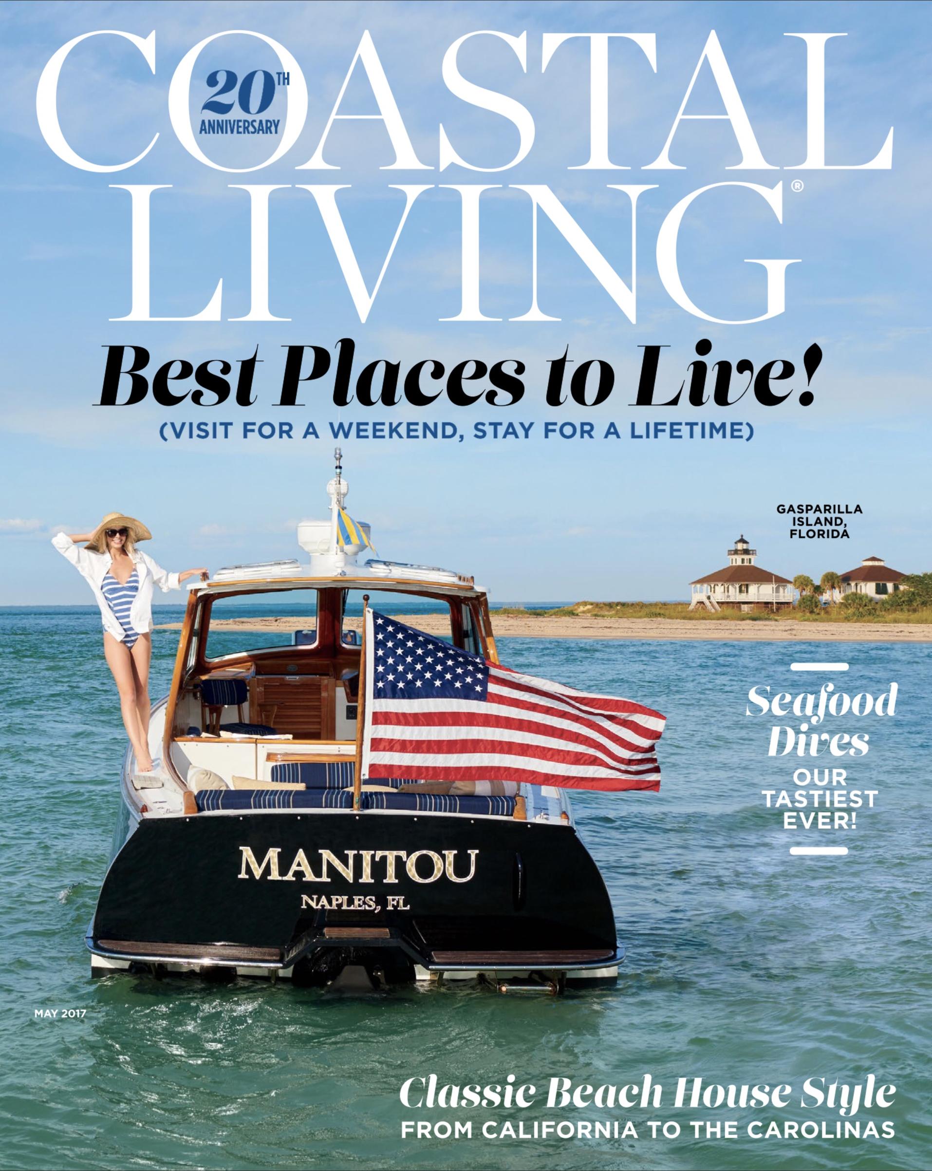 Bu0026G Collaborates With Coastal Living Magazine On Milestone Issue Aboard  Club Hinckley Yacht Manitou.